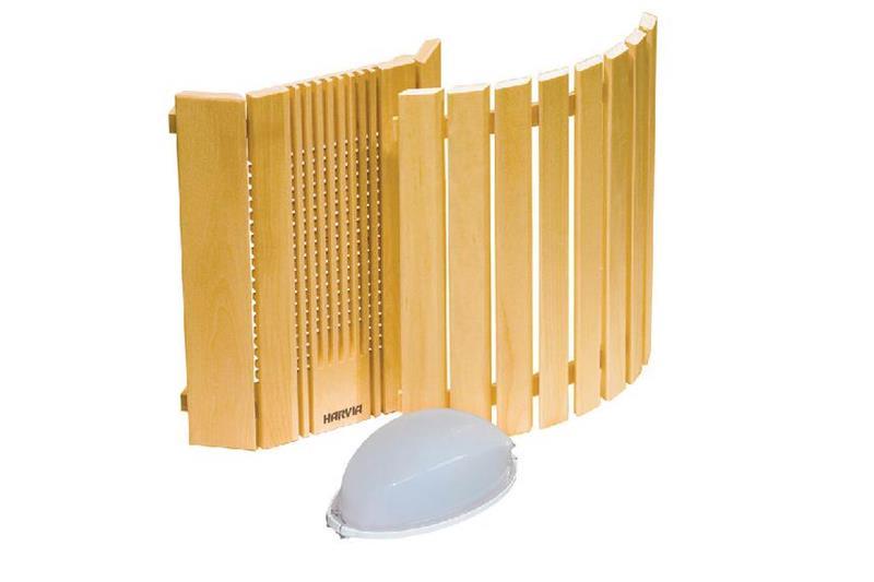 Ξύλινο προστατευτικό και φως σάουνας – Harvia 1
