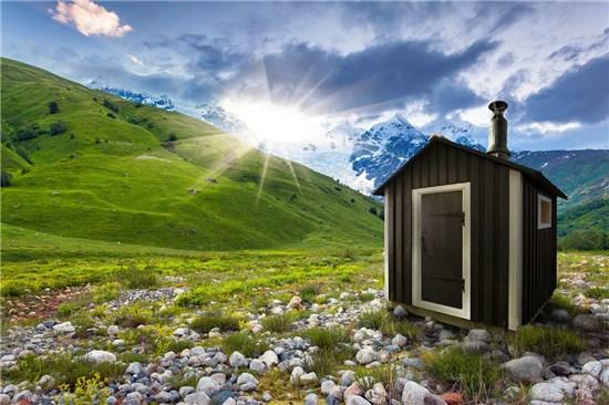Mini Sauna Λετονίας εξωτερικού χώρου 6
