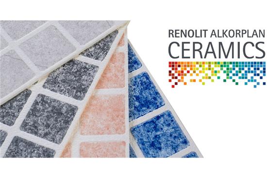 Μεμβράνη Liner Γερμανίας - Ισπανίας, Ανάγλυφη σειρά ψηφίδων της Renolit Alkorplan - Σειρά Ceramics