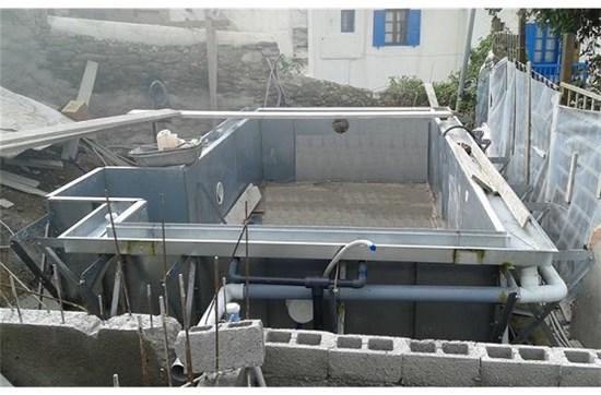 Πισίνα-Υδρομασάζ προκάτ με υπερχείλιση στο ξενοδοχείο Belvedere στη Μύκονο - Έργο 2