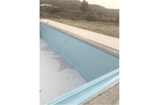 Πισίνα Προκάτ με Περιμετρική Υπερχείλιση και Liner στη Ρόδο - Έργο 7 3