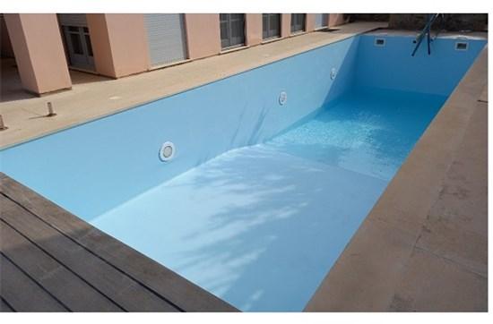 Τοποθέτηση liner σε υπάρχουσα πισίνα μπετόν με σκίμμερ στην Σύρο - Έργο 2