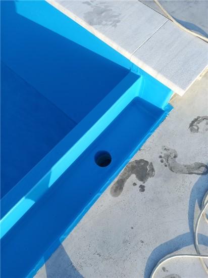 Πισίνα Προκάτ με Liner και Υπερχείλιση Καταρράκτη στη Μήλο - Έργο 9 11