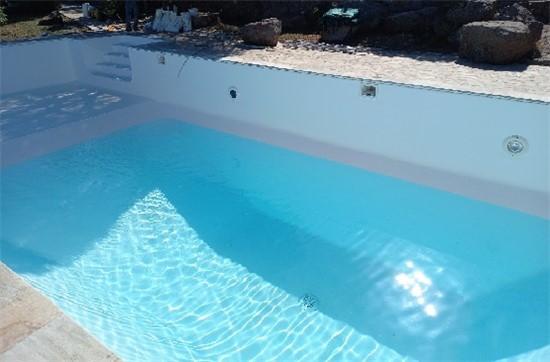 Πισίνα Προκάτ με Liner και Σκίμμερ στην Αίγινα - Έργο 12