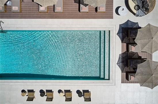 Πισίνα προκάτ με υπερχείλιση στο Nival Boutique Hotel - Έργο 12