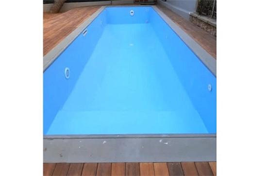 Πισίνα προκάτ με Liner, Σκίμμερ, Υδρομασάζ και Αντίθετη Κολύμβηση στη Βούλα - Έργο 14