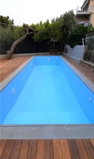 Πισίνα προκάτ με Liner, Σκίμμερ, Υδρομασάζ και Αντίθετη Κολύμβηση στη Βούλα - Έργο 14 1
